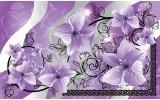 Fotobehang Bloemen | Paars, Grijs | 104x70,5cm