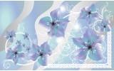 Fotobehang Bloemen | Grijs, Blauw | 208x146cm