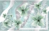 Fotobehang Bloemen | Groen, Grijs | 152,5x104cm