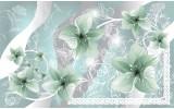 Fotobehang Vlies | Bloemen | Groen, Grijs | 368x254cm (bxh)