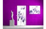 Deursticker Muursticker Bloemen | Wit | 91x211cm