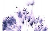Fotobehang Vlies | Bloemen | Paars, Wit | 368x254cm (bxh)