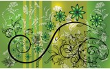 Fotobehang Vlies | Bloemen | Groen, Geel | 368x254cm (bxh)