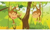 Fotobehang Papier Jungle | Groen, Bruin | 254x184cm
