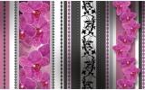 Fotobehang Bloemen | Roze, Grijs | 208x146cm