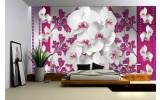 Fotobehang Bloemen, Orchideeën | Roze, Wit | 208x146cm