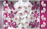Fotobehang Vlies | Bloemen, Orchideeën | Roze, Wit | 368x254cm (bxh)
