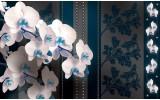 Fotobehang Vlies   Bloemen, Orchideeën   Blauw   368x254cm (bxh)