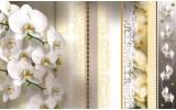 Fotobehang Papier Bloemen, Orchideeën | Geel | 368x254cm