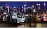 Fotobehang New York | Paars | 104x70,5cm
