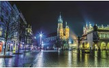Fotobehang Stad | Grijs, Groen | 312x219cm