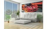 Fotobehang Auto   Rood, Oranje   250x104cm