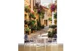 Fotobehang Papier Straat, Bloemen | Groen | 184x254cm