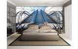 Fotobehang Modern, Diepte | Grijs | 104x70,5cm