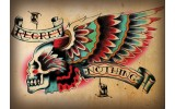 Fotobehang Alchemy Gothic | Rood | 208x146cm