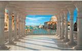 Fotobehang Papier Stad, Venetië | Blauw | 254x184cm