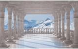 Fotobehang Vlies | Natuur, Bergen | Grijs | 368x254cm (bxh)