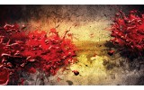Fotobehang Papier Abstract, Kunst | Rood | 254x184cm