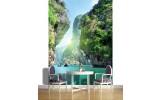 Fotobehang Papier Natuur  | Groen, Blauw | 184x254cm