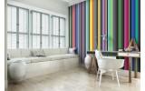 Fotobehang Vlies | Strepen, Kleurrijk | Groen | 368x254cm (bxh)