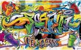 Fotobehang Graffiti, Street art | Groen | 416x254