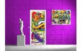 Fotobehang Graffiti   Paars   91x211cm