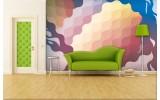 Fotobehang Papier Abstract | Geel, Blauw | 254x184cm