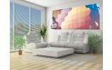 Fotobehang Abstract | Geel, Blauw | 250x104cm