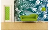 Fotobehang Abstract | Groen, Blauw | 312x219cm