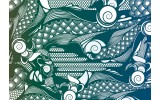 Fotobehang Vlies | Abstract | Groen, Blauw | 368x254cm (bxh)