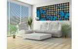 Fotobehang Vlinder | Blauw, Grijs | 250x104cm