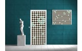 Fotobehang Abstract | Zwart | 91x211cm