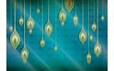 Fotobehang Abstract | Groen, Blauw | 152,5x104cm