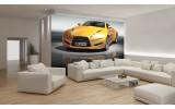 Fotobehang Auto | Geel, Grijs | 104x70,5cm