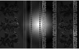 Fotobehang Vlies | Bloemen | Zwart, Grijs | 368x254cm (bxh)