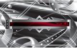Fotobehang Vlies | Abstract | Zilver, Rood | 368x254cm (bxh)