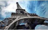 Fotobehang Vlies | Eiffeltoren | Grijs, Blauw | 368x254cm (bxh)