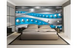Fotobehang Abstract, Modern | Zilver, Blauw | 104x70,5cm