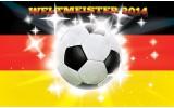 Fotobehang Papier Voetbal | Geel, Zwart | 368x254cm