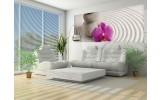 Fotobehang Stenen Bloem | Paars, Roze | 250x104cm