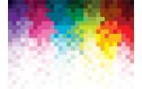 Fotobehang Abstract | Roze, Geel | 312x219cm