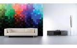 Fotobehang Abstract | Zwart, Blauw | 104x70,5cm
