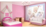 Fotobehang Papier Disney, Winnie De Poeh | Blauw, Roze | 368x254cm
