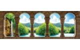 Fotobehang Vlies Natuur | Blauw, Groen | GROOT 624x219cm