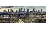 Fotobehang Vlies Stad, Skyline | Grijs | GROOT 624x219cm