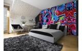 Fotobehang Graffiti | Blauw, Rood | 416x254