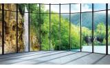 Fotobehang Natuur | Groen, Grijs | 104x70,5cm