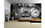 Fotobehang Klok, Keuken | Grijs | 312x219cm