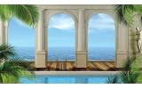 Fotobehang Vlies | Zee, Natuur | Blauw | 368x254cm (bxh)