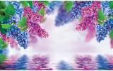 Fotobehang Vlies | Bloemen | Paars, Blauw | 368x254cm (bxh)